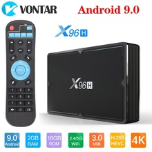 X96H Android 9.0 TV Box 4GB 64GB H603 Quad core 6K 2.4G 5G D