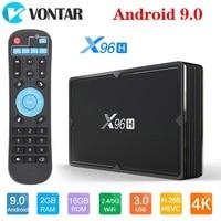 X96h android 9.0 caixa de tv 4 gb 64 gb h603 quad core 6 k 2.4g 5g duplo wifi usb3.0 bt4.1 google player youtube conjunto caixa superior x96 h 4g 32g
