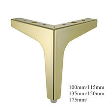 4Pcs Vloeren Metalen Meubelen Benen Vierkante Kast Houten Tafel Benen Goud Voor Sofa Voeten Voet Bed Riser Meubels Accessoires