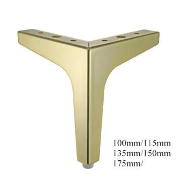 4pcs Flooring Metal Furniture Legs Square Cabinet Wood Table Legs Gold for Sofa Feet Foot Bed Riser furniture accessories - DISCOUNT ITEM  32 OFF Furniture
