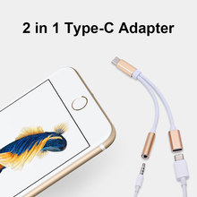 Type C To 3.5mm Aux Audio Charging Jack Splitter 2 in 1 Type-C Cable Converter Headphone Adapter for Huawei P30 Pro Xiaomi Mi 8(China)