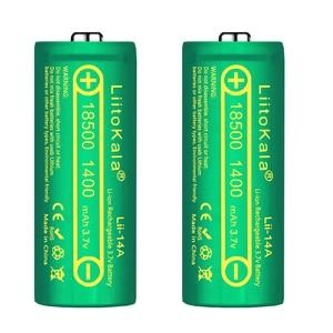 Image 3 - LiitoKala Lii 14A 18500 1400mAh 3.7V 18500 Battery Rechargeable Battery Recarregavel Lithium Li ion Batteies For LED Flashlight