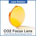 Китай PVD ZnSe объектив диаметром 25 мм FL 50 8 мм 63 5 мм 76 2 мм 101 6 мм 127 мм Высокая точность co2 Лазерное зеркало объектива для CO2 лазерной машины