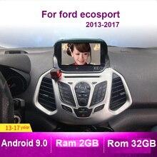 Rádio estereofônico 2 do carro do ruído de dvd do sistema de entretenimento da navegação de 9.0 gps para ford ecosport 2013  2017