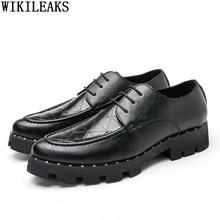 Casual Business Shoes Men Pointed Toe Formal Men Dress Shoes Leather Black Oxford Party Shoes for Men 2021 Chaussure De Homme