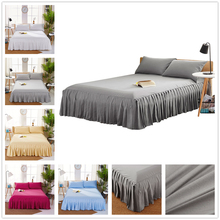 Bed-Cover Quilts for Quilted Bedspread Lace Sheet Bedspreads Overlay Mattress Queen Size Skirt Warm Mattresses Beds Double Bed