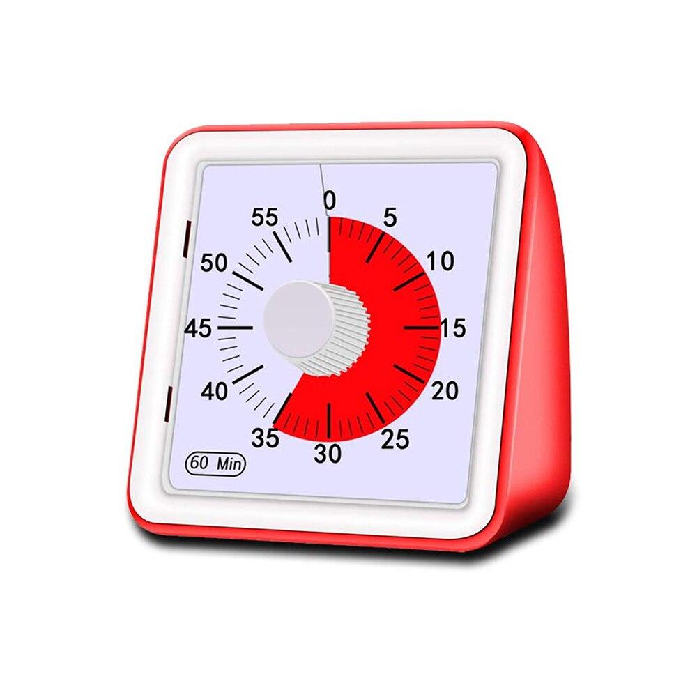 1 шт. 60 минут визуальный аналоговый таймер тихий Обратный отсчет часы управление временем инструмент для детей взрослых безопасный визуаль...