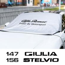 Copertura della protezione del parasole del parabrezza dellautomobile per Alfa Romeo Giulia Giulietta 147 156 159 Mito 4C Stelvio Sportiva accessori Auto