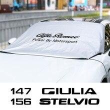רכב שמשה קדמית שמשיה מגן כיסוי עבור אלפא רומיאו Giulia ג ולייטה 147 156 159 מיטו 4C Stelvio Sportiva אוטומטי אבזרים