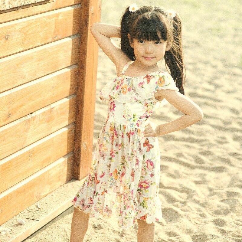 KID'S Swimwear GIRL'S Swimsuit Cute Large Children South Korea Students Split Skirt Triangle Tour Bathing Suit