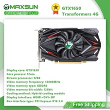 Maxsun GeForce GTX1650 Transformatoren 4G 128bit Grafikkarte Nvidia GDDR5 GPU Video Gaming Video Karte Für PC Computer DP DVI
