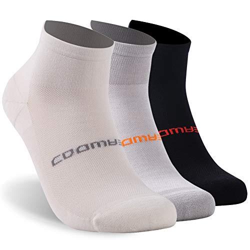 3 Pairs Athletic Socks, ZEALWOOD Moisture Wicking Ultra-Light Running Socks
