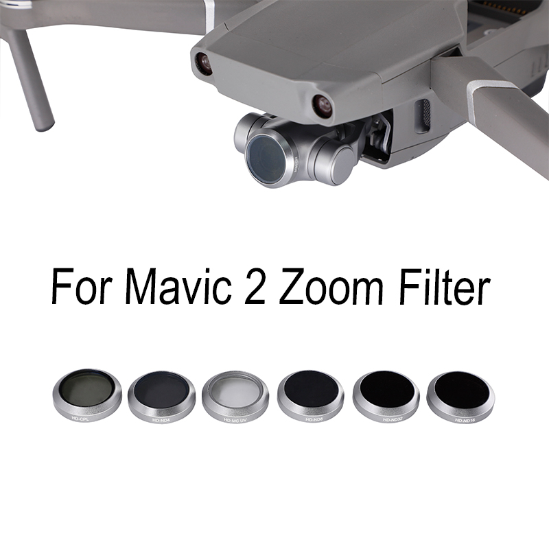 Drone Filters For DJI Mavic 2 ZooM UV CPL ND4 ND8 ND16 ND32 Gimbal Camera Lens Filter Filters Parts Accessories
