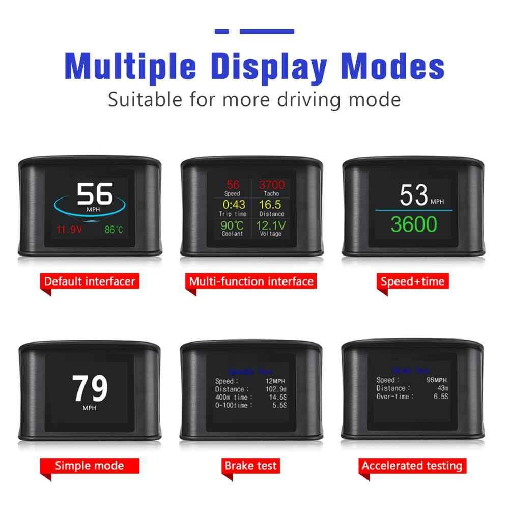 VJOYCAR Hud GPS OBD 컴퓨터 자동차 속도 프로젝터 디지털 속도계 디스플레이 연료 소비 온도 게이지 진단 도구