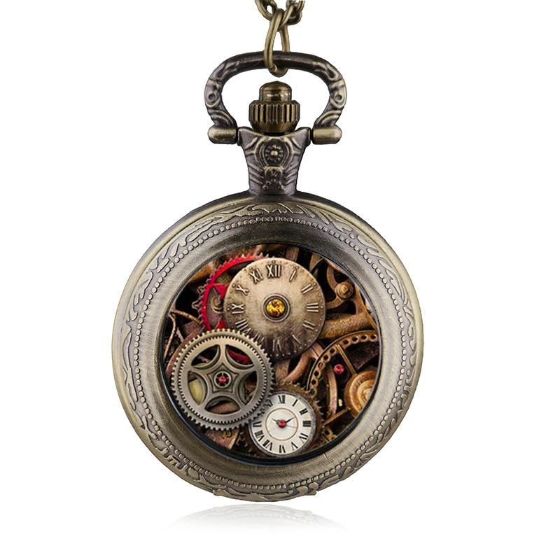 Antique-Gear-Pattern-Fashion-Steampunk-Quartz-Pocket-Watch-Women-Man-Necklace-Pendant-with-Chain-Gifts-reloj