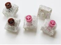 Interruptores silenciosos da caixa de kailh interruptor cor-de-rosa marrom silencioso rgb smd para o teclado mecânico