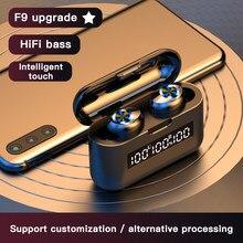ALECUCI x35 Bluetooth 5.0 kulaklık kablosuz kulaklık TWS Stereo kulaklık ile şarj durumda LED pil ekran dokunmatik kontrol Mic
