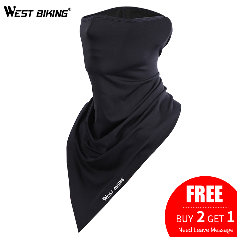 WEST BIKING Summer Cycling Face Mask Anti-sweat Breathable Cycling Caps Running Bicycle Bandana Sports Scarf Face Mask Men Women