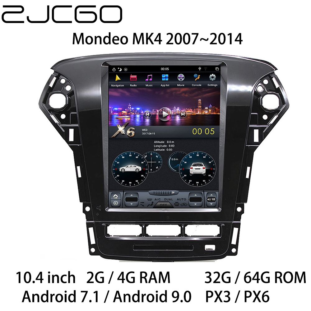Car Multimedia Player Stereo <font><b>GPS</b></font> DVD Radio Navigation Android Screen for <font><b>Ford</b></font> <font><b>Mondeo</b></font> MK4 2007 2008 2009 <font><b>2010</b></font> 2011 2012 2013 2014 image