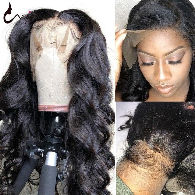Peluca de onda del cuerpo UWIGS 28 30 pulgadas 13x4 pelucas de cabello humano frontal de encaje 4x4 Peluca de cierre 150 densidad brasileña cuerpo ondulado peluca con malla frontal