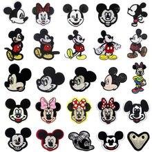 Disney pano remendo costura adesivos mickey minnie bordado vestuário adesivo dos desenhos animados diy engomar applique decoração do vestuário