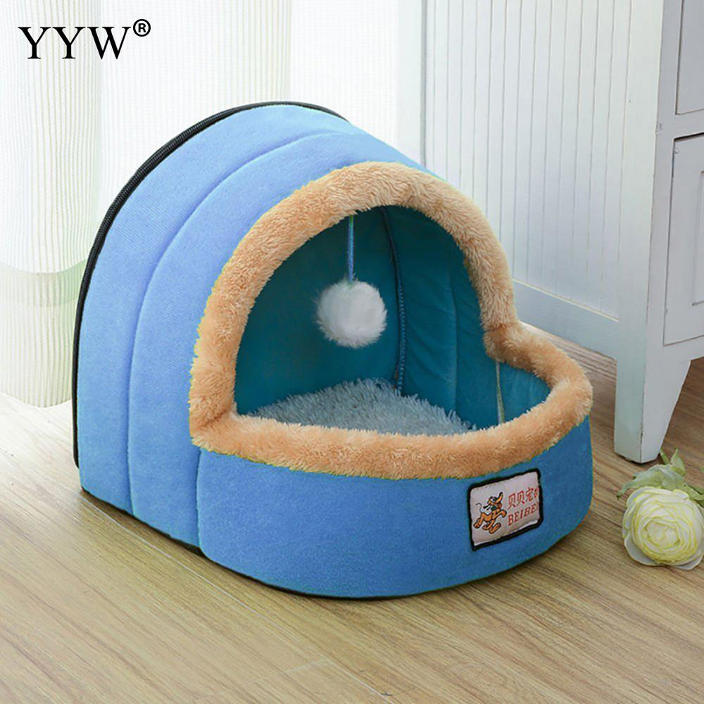 Winter Pet Dog Cat Bed Puppy Housee Lovely Warm Soft Suitable Cat Dog Bed House For Pets Cushion High Quality Products in Houses Kennels Pens from Home Garden