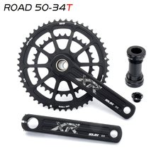 20S/22S Folding Road Bike 165/170/172.5/175mm GXP Crankset Narrow Wide Chainring 50/34T 52/36T 52/42T 53/39T FOR SHIMANO SRAM