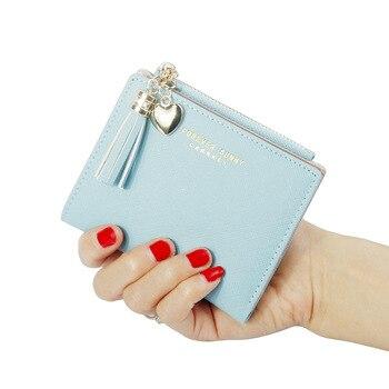 Fashion PU Short Wallet Mini Ladies Ultra-thin Small Women Zipper Coin Purse Korean