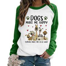 Nouvelle mode amour chien patte imprimer chemise haute femmes grande taille Raglan rose T-shirt Tumblr recadrée mignon 2021