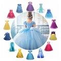 Платье Золушки для девочек, косплей-костюм Рапунцель, платье принцессы Белль Анна, Эльза, платье для сна, красивое детское платье