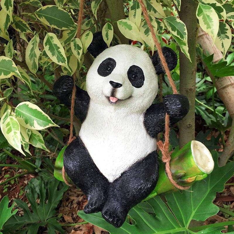 Koala Panda conejo decoración de jardín, estatua de simulación de animales, escultura de resina, artesanía, decoración del hogar, ornamento bonito Aspersor rotativo de 360 ángulos con rosca macho de 1/2 pulgadas, riego de césped para Agricultura, Riego de jardín, 1 Uds