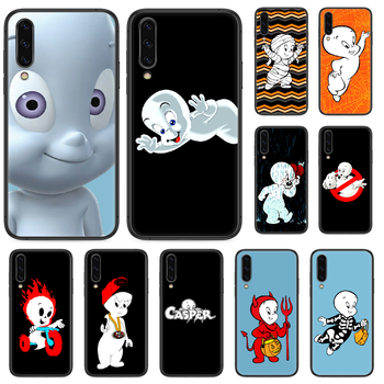 Cartoon Casper cute genius Phone case For Samsung Galaxy A 3 5 7 8 10 20 20E 21S 30 30S 40 50 51 70 71 black waterproof silicone image