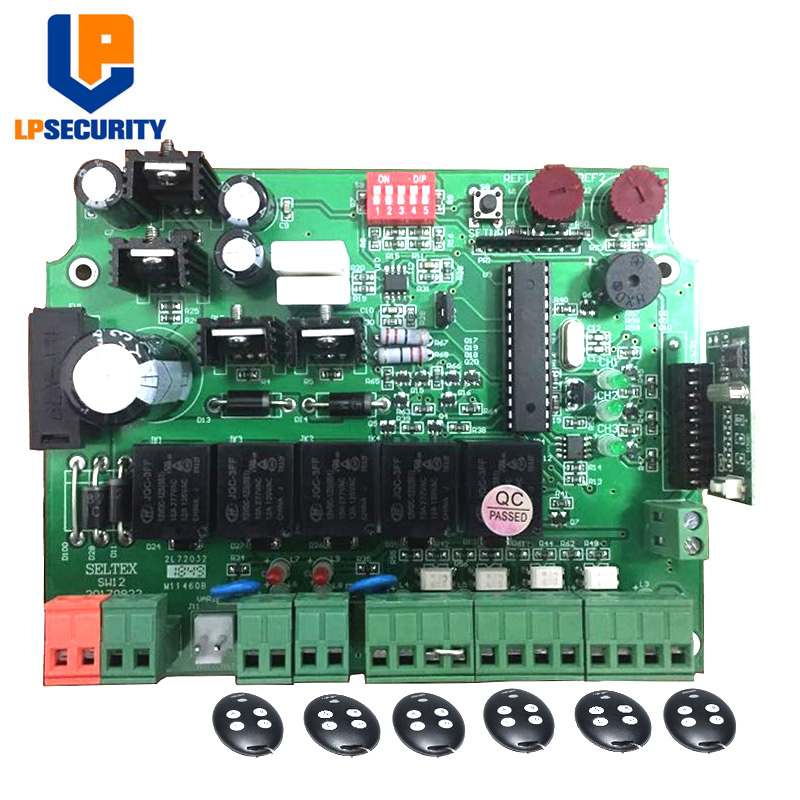 12V DC PCB Board/ Control Board Pane Of Automatic Double Arms Swing Gate Opener With Key Remote