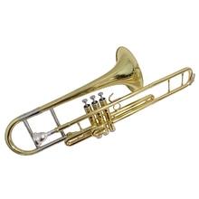 F поршень тромбоны Музыкальные инструменты с Чехол мундштук медь тромбоны лак никель посеребренный