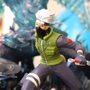Image 2 - Anime Naruto Uchiha Sasuke Hatake Kakashi ostateczna bitwa pełnej długości portret ograniczona biust GK figurka Model kolekcjonerski zabawka
