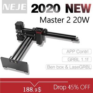 NEJE Master 2 20W desktop Laser Engraver and Cutter - Laser Engraving and Cutting Machine - Laser Printer - Laser CNC Router(China)