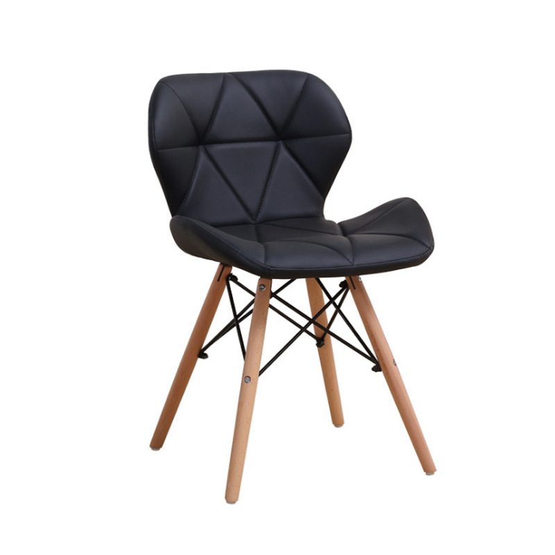 New Style Solid Wood Leather Chair Eames Chair Simple European Style Butterfly Yi Household Fashion Armchair Stool Computer Chai