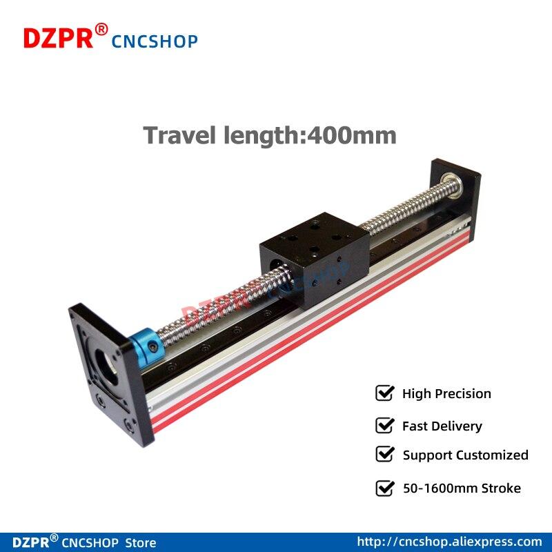 400mm linear module for 3d printer parts robotic arm kit  Engraving machine Z axis Miniature precision slide