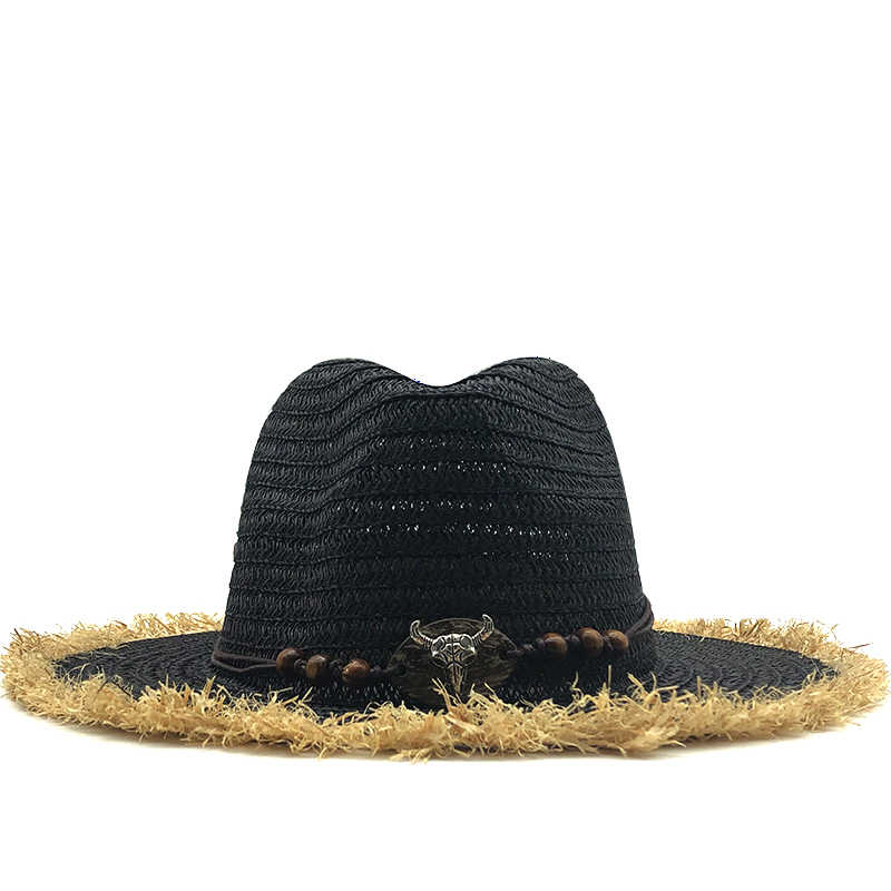Baru Panama Topi Jerami, Wanita Musim Panas untuk Topi Fedora Pantai Topi UV Perlindungan Cap