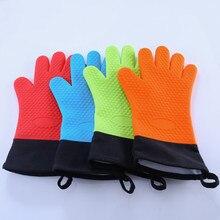 Hittebestendige Siliconen Handschoen Dikke Bbq Grill Handschoenen Keuken Waterdichte Oven Koken Mitts Grill Bakken Handschoenen