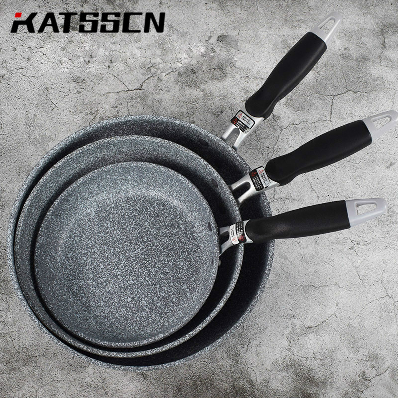 Medical Stone Pan Set Forged Aluminum Non-stick 20/26/28cm Frying Pan Ceramic Coating Easy Clean For Induction Cooker Gas Stove