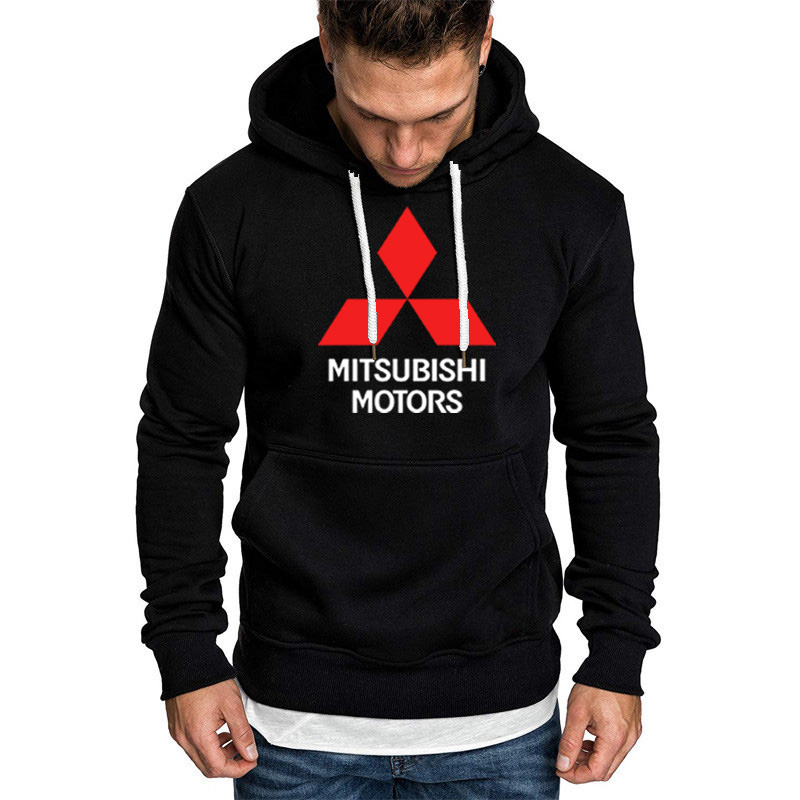 Hoodies Men Mitsubishi Car Logo Print Sweatshirt Spring Autumn Men Hoodie Hip Hop Harajuku Fashion Casual Hoody Fleece Tracksui