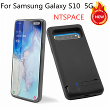 NTSPACE  6500mAh External Battery Power Bank Charging Cover For Samsung S10 5G Battery Case For Samsung Galaxy S10 5G Power Case