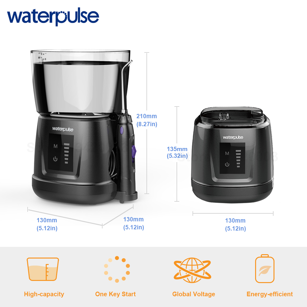Image 4 - Waterpulse V700P New Water Flosser 1000ml Capacity Oral Irrigator Traveler Portable Dental Oral Flosser With 6pcs Jet Tips-in Oral Irrigators from Home Appliances