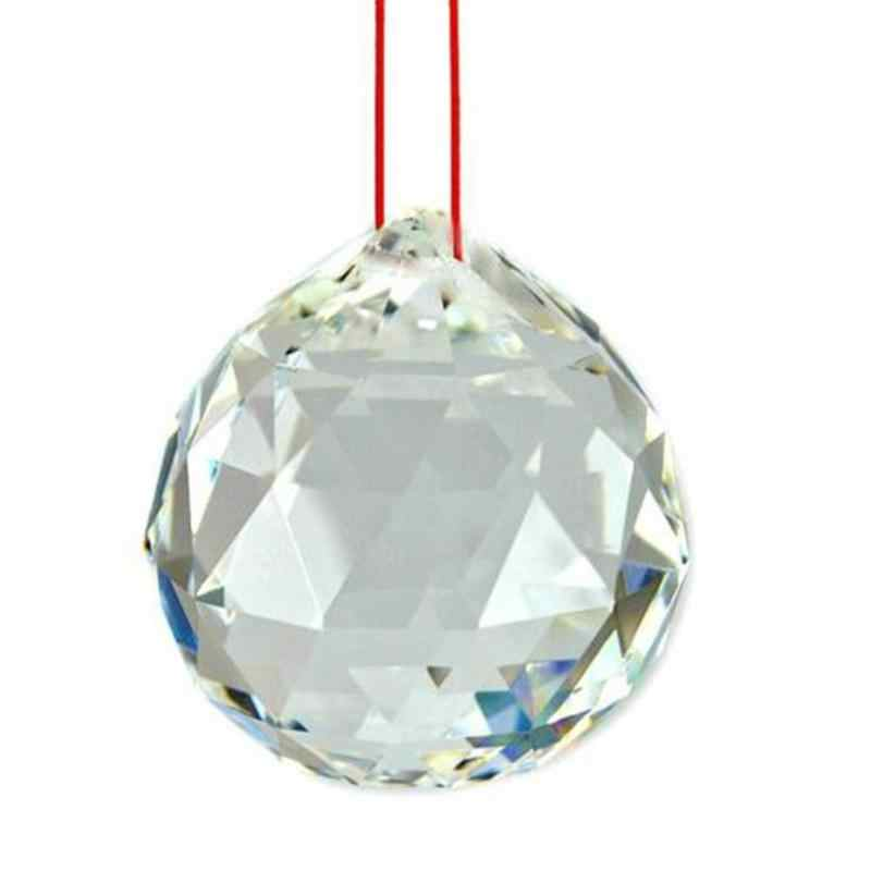 Подвеска стеклянный шар призмы для люстр потолочный светильник свисающие Кулоны из нержавеющей стали