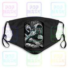 Dust Mask with Filter Chillin Barber Shop Fresh Cut David Gonzales Dga Washable Reusable Mask