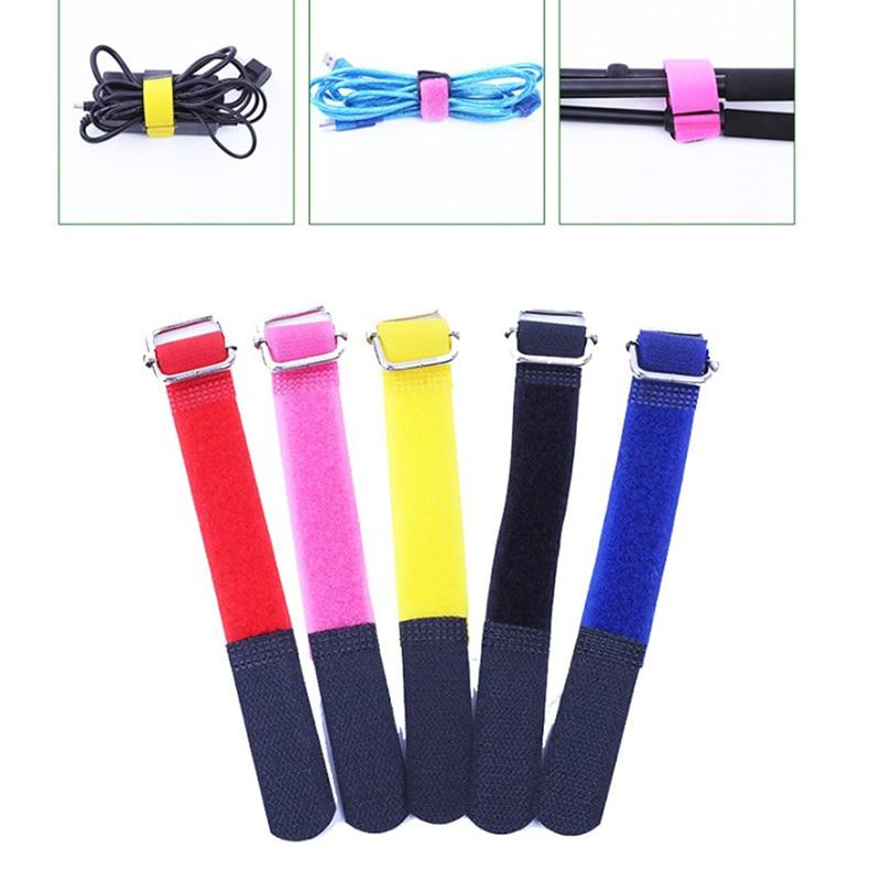 10Pcs Adhesive Loop Hook Reusable Fishing Rod Tie Holder Strap Hook And Loop Cable Ties Fastener Tape Cable Organizers