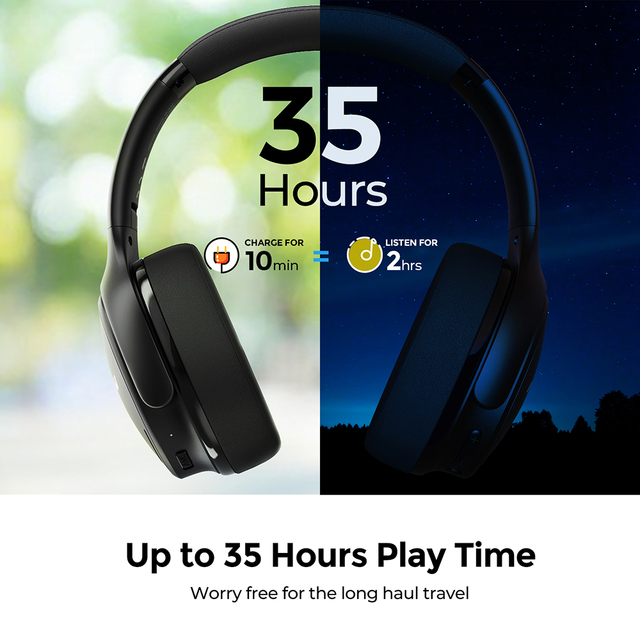 H19 IPO Wireless Bluetooth Headphones ANC Active Noise Cancelling Headset with Carrying Bag for Huawei Iphone Galaxy Phones 5