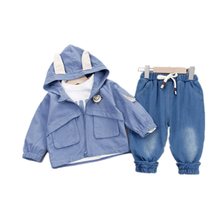 Spring Autumn Baby Boy Clothes Suit Children Girls Pocket Hooded T Shirt Pants 3Pcs/set Toddler Casual Clothing  Kids Tracksuits spring autumn baby clothes suit children boys girls cartoon pattern hooded toddler fashion casual clothing kids outing costume
