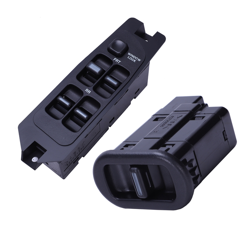 2 Pcs Passenger Single Power Window Switch Black Control Button For Daewoo Lanos Prince Cielo, OE:96179135 & OE:96179137